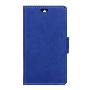 Horse PU kožené puzdro pre Sony Xperia X - modré - 1