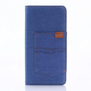 Jeans Peňaženkové puzdro pre Sony Xperia X - modré - 1
