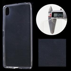 Ultratenký 0.5 mm gélový obal pre Sony Xperia X - transparentné - 1