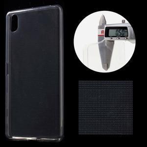 Ultratenký 0.5 mm gélový obal pre Sony Xperia X - sivý - 1