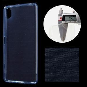 Ultratenký 0.5 mm gélový obal pre Sony Xperia X - tmavomodrý - 1