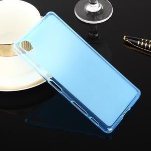 Obojstranné matne gélový obal pre Soxy Xperia X - modrý