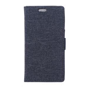 Texture puzdro pre mobil Sony Xperia X - tmavomodré - 1