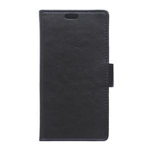 Horse PU kožené puzdro pre Sony Xperia X - čierne - 1