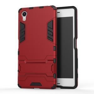 Odolný kryt pre mobil Sony Xperia X - červený - 1
