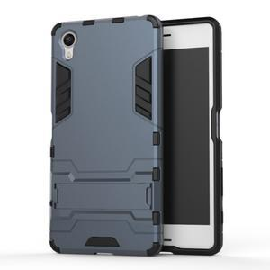 Odolný kryt na mobil Sony Xperia X - šedomodrý - 1