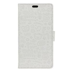 Cartoo peněženkové pouzdro na Sony Xperia X - bílé - 1