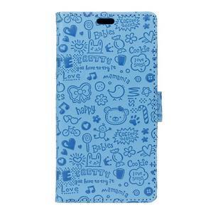 Cartoo Peňaženkové puzdro pre Sony Xperia X - modré - 1