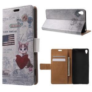 Emotive puzdro pre mobil Sony Xperia XA - US mačička - 1