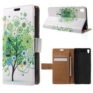 Emotive puzdro pre mobil Sony Xperia XA - zelený strom - 1