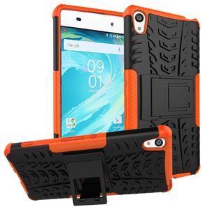 Outdoor odolný obal pre mobil Sony Xperia XA - oranžový - 1