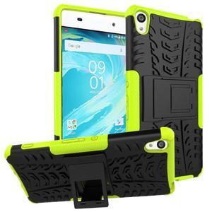Outdoor odolný obal na mobil Sony Xperia XA - zelený - 1