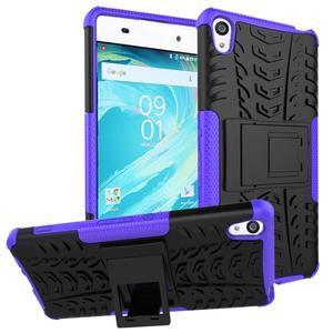 Outdoor odolný obal pre mobil Sony Xperia XA - fialový - 1