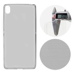 Ultratenký 0.5 mm gelový obal na mobil Sony Xperia XA - šedý