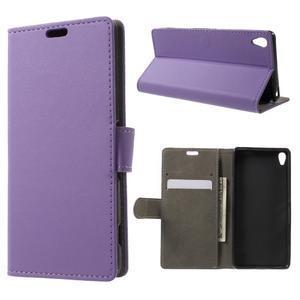 Cardy puzdro pre mobil Sony Xperia XA - fialové - 1