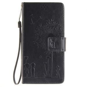 Dandely PU kožené pouzdro na mobil Sony Xperia XA - černé - 1
