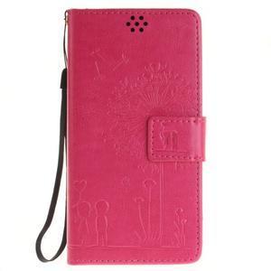 Dandely PU kožené puzdro pre mobil Sony Xperia XA - rose - 1