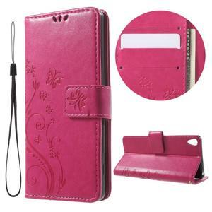 Butterfly pouzdro na mobil Sony Xperia XA - rose - 1