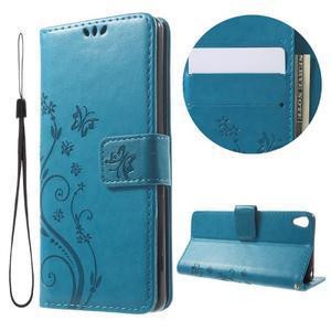 Butterfly puzdro pre mobil Sony Xperia XA - modré - 1