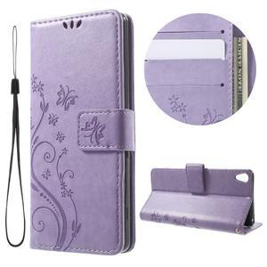 Butterfly puzdro pre mobil Sony Xperia XA - fialové - 1