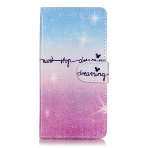 Emotive PU kožené knížkové puzdro pre Sony Xperia XA - neprestávaj snívať - 1