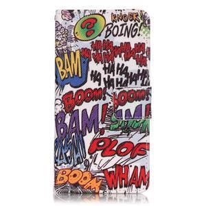 Emotive PU kožené knížkové puzdro pre Sony Xperia XA - boom - 1