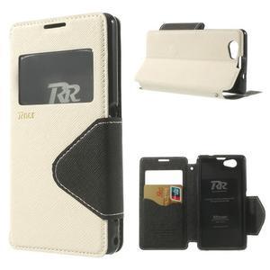 Okýnkové puzdro pre mobil Sony Xperia Z1 Compact - biele - 1