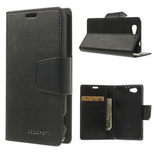 Sonata PU kožené puzdro pre mobil Sony Xperia Z1 Compact - čierne - 1