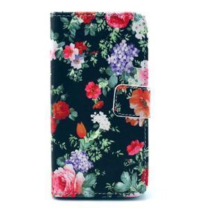 Puzdro na mobil Sony Xperia Z1 Compact - květinová koláž - 1