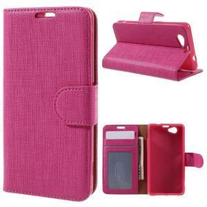 Clothy PU kožené pouzdro na Sony Xperia Z1 Compact - rose - 1