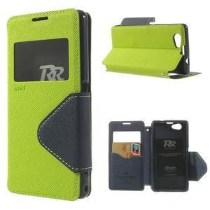 Okýnkové pouzdro na mobil Sony Xperia Z1 Compact - zelené - 1
