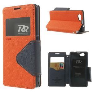 Okýnkové puzdro pre mobil Sony Xperia Z1 Compact - oranžové - 1