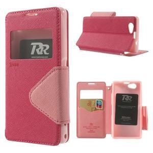 Okýnkové pouzdro na mobil Sony Xperia Z1 Compact - rose - 1