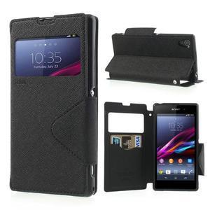 Okýnkové pouzdro na mobil Sony Xperia Z1 - černé - 1