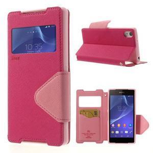 Okýnkové pouzdro na mobil Sony Xperia Z2 - rose - 1