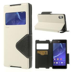 Okýnkové pouzdro na mobil Sony Xperia Z2 - bílé - 1
