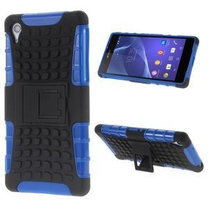Outdoor odolný kryt pre mobil Sony Xperia Z2 - modrý - 1