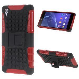 Outdoor odolný kryt pre mobil Sony Xperia Z2 - červený - 1