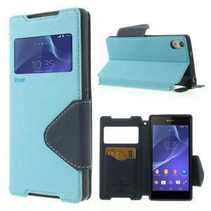 Okýnkové pouzdro na mobil Sony Xperia Z2 - světlemodré - 1
