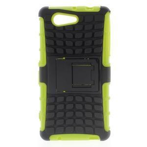 Odolný ochranný kryt pre Sony Xperia Z3 Compact - zelený - 1