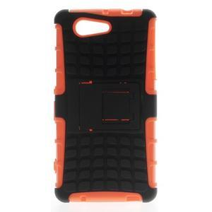 Odolný ochranný kryt pre Sony Xperia Z3 Compact - oranžový - 1
