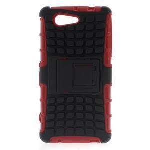 Odolný ochranný kryt pre Sony Xperia Z3 Compact - červený - 1