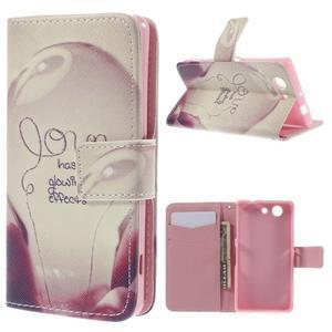 Knížkové pouzdro na mobil Sony Xperia Z3 Compact - love - 1