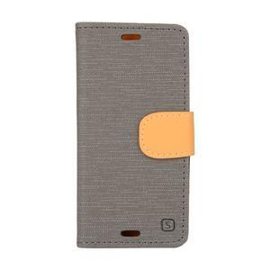 Texture pouzdro na mobil Sony Xperia Z3 Compact - šedé - 1