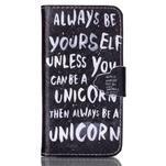 Emotive knížkové pouzdro na Sony Xperia Z3 Compact - unicorn - 1/6