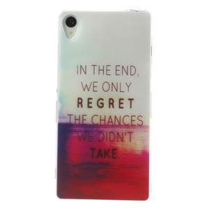 Ultratenký gélový obal pre mobil Sony Xperia Z3 - regret - 1