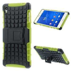 Outdoor ochranný kryt pre mobil Sony Xperia Z3 - zelený - 1