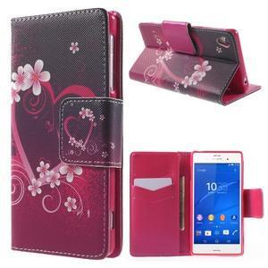 Emotive Peňaženkové puzdro pre Sony Xperia Z3 - srdce - 1