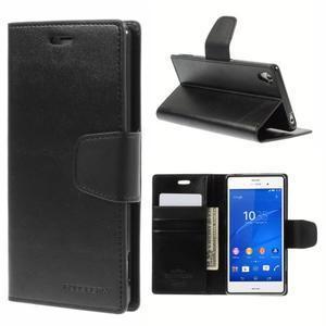 Sonata PU kožené puzdro pre mobil Sony Xperia Z3 - čierne - 1