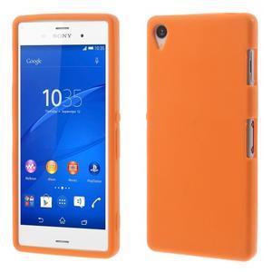 Silikónový obal pre mobil Sony Xperia Z3 - oranžový - 1
